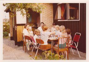 besøg af faster Inge, onkel John, kusine Charlotte, Sussi og fætter Lars